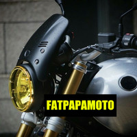 Motorcycle headlight LED protection for BMW R Nine T Scrambler