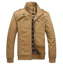 Новый мужской хлопок куртка мужчины весна зимняя куртка воротник тонкий вскользь куртка мужчины пальто тонкий парки мужской верхней одежды пальто