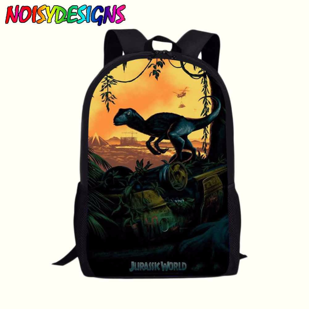 Jurassic World Personalised Boys Book Laptop Backpack+Pen Bag Kid/'s Rucksack 16/""