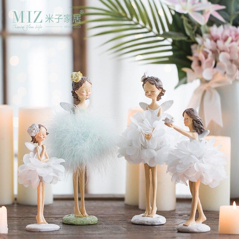 Miz 1 Piece Resin Dcing Girl Gift For Girl Desktop Standing Home Decoration Display Handmade Craft