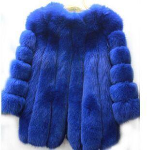Новый теплое зимнее пальто мода лисий мех чернобурки пальто черный белый среднего длинном пальто бесплатная Shipping0