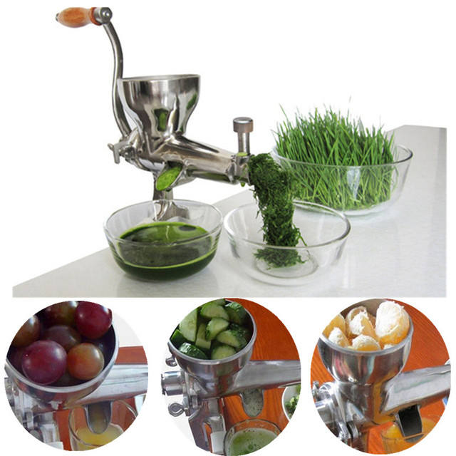 Wheat grass juicer stainless steel multifunctional manual auger slow juice extractor fruit vegetable lemon juicing machine