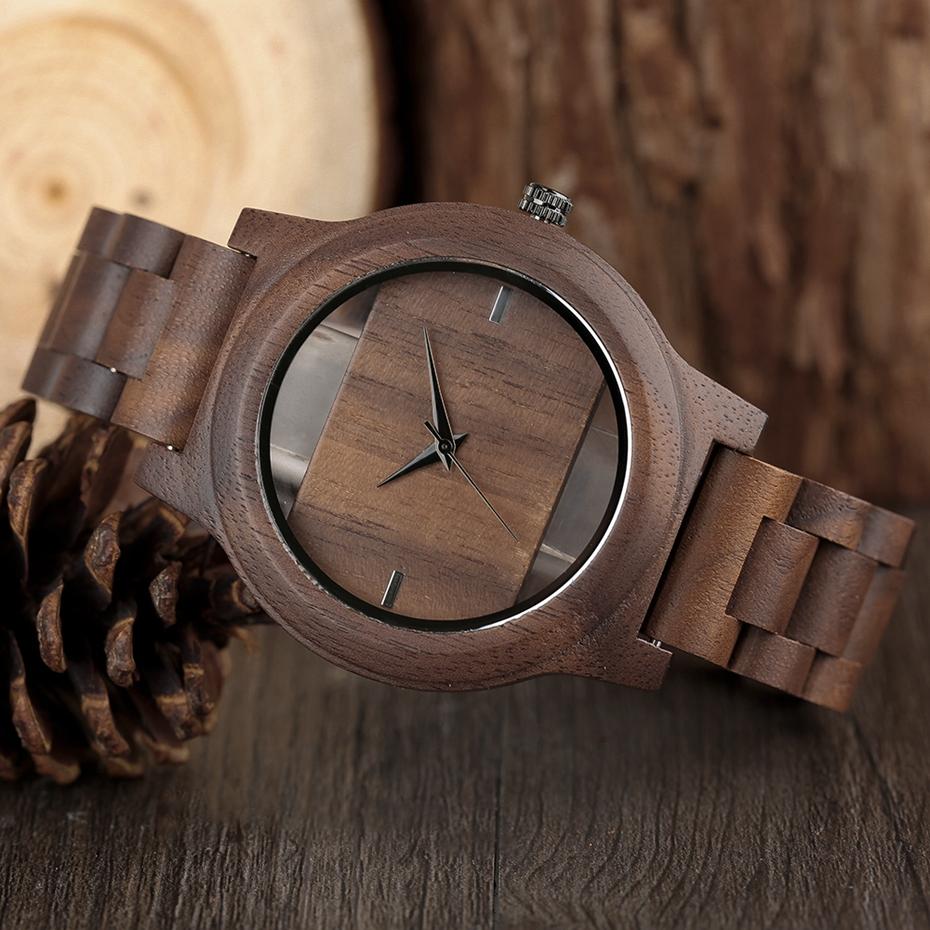 YISUYA Mens Women Natural Wood Watches Full Wooden Bamboo Wristwatch Fashion Hollow Dial Design Quartz Novel Handmade Clock Gift 2017 (7)