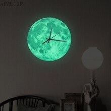 Aimecor Happy Home New Luminous Moonlight Wall Clock 3D Watc