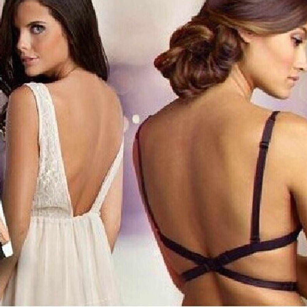 1 Pc Low Back Backless Bra Strap Sexy Moda Mulheres Belt Para Vestido Conversor Ajustável Menina Sutiã Extender Gancho Invisível 2018