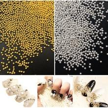 20g Steel Metal Silver Mini Caviar Beads 3D  DIY Nail Art Decorations
