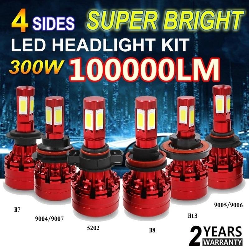 High quality super bright H4 H7 H11 H1 9005 9006 COB Car LED Headlight Bulbs Hi-Lo Beam 120W 6500K Auto Headlamp Fog Light Bulb 2 pcs led car headlight bulb hi lo beam cob headlights 72w 8000lm 6500k auto headlamp 12v 24v fog light work head lamp h4 h7 h11