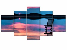 5 Pieces HD Print canvas art sea beach painting modern home decor wall art picture for living room decor painting Framed itian a1 15000mah qc3 0 power bank