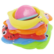 6 Pcs Kids Toy Baby Stacking Cups Funny Toys For Boy Girl Kid Rainbow Tower Ring Stack Up Nest Children Education