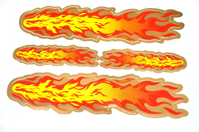 Universal Car Motorcycle  Stickers New Style Flame Sticker Paper car styling Car decoration mp048 cool 3d flame style diy decoration stickers for car motorcycle blue 2 pcs
