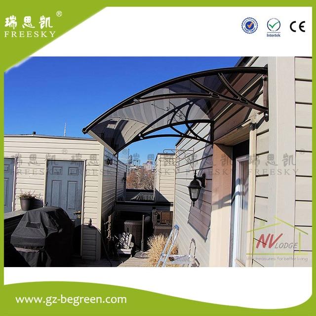 YP100480 100x480cm Polycarbonate Clear Sheet DIY Outdoor Window Patio UV Rain Awning Cover Sun Shield Door