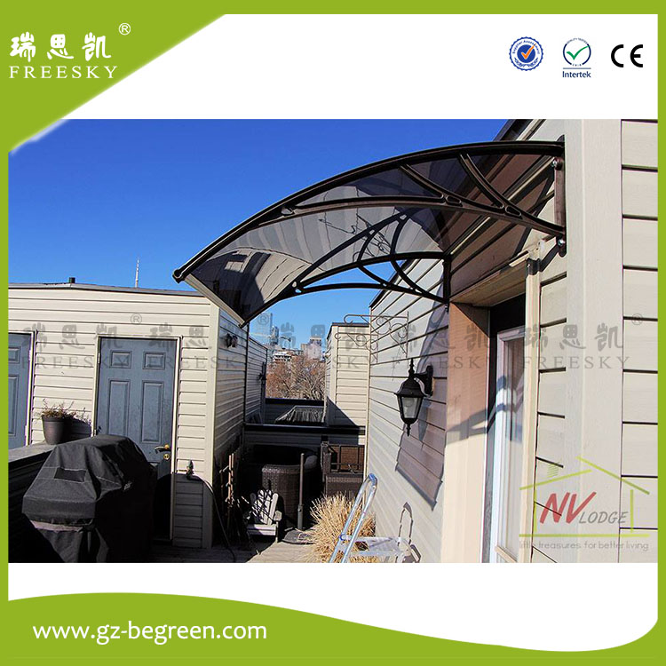 YP100480 100x480cm Polycarbonate Clear Sheet DIY Outdoor Window Patio UV Rain Awning Cover Sun Shield Door Canopy