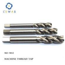 1 шт. M2 M2.5 M3 M4 M5 M6 M7 M8 M10 M12 метрических из быстрорежущей инструментальной стали HSS винтовая канавка Метчик