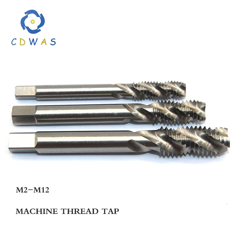 1pc M2 M2.5 M3 M4 M5 M6 M7 M8 M10 M12 Metric High Speed Steel HSS Spiral Groove Machine Tap