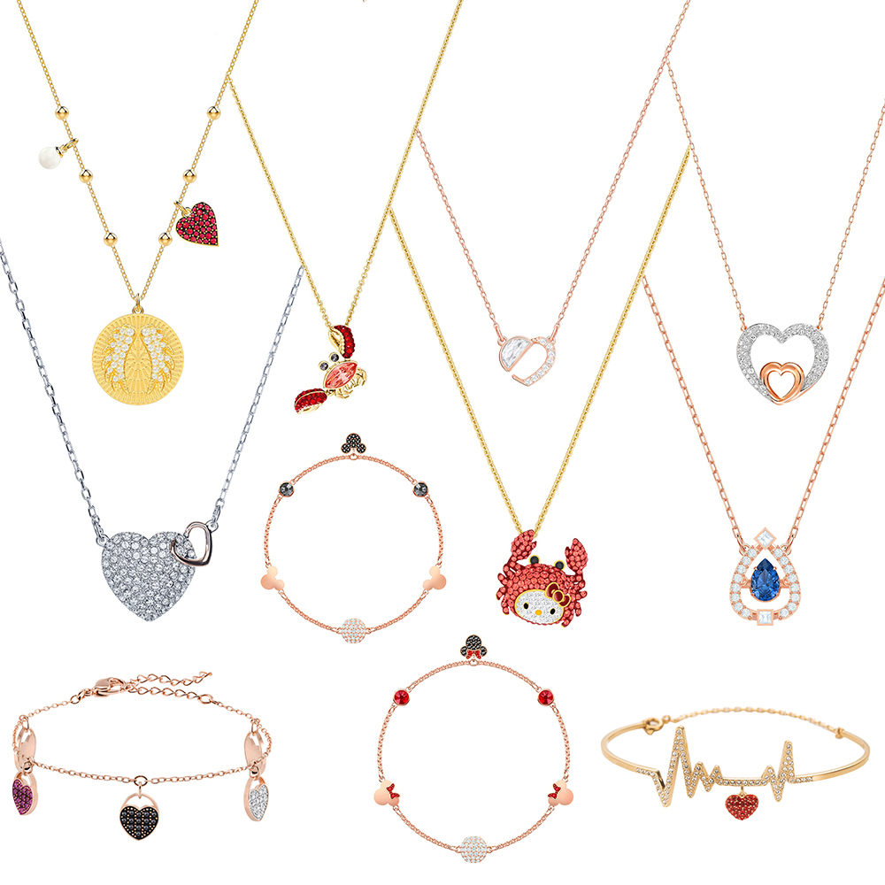 SWA RO 2019 New LUCKY GODDESS WINGS . OCEAN CRAB .HEAR. HELLO KITTY CRAB. OXO Multi Style Ladies Jewelry Necklace And Bracelet SWA RO 2019 New LUCKY GODDESS WINGS . OCEAN CRAB .HEAR. HELLO KITTY CRAB. OXO Multi Style Ladies Jewelry Necklace And Bracelet