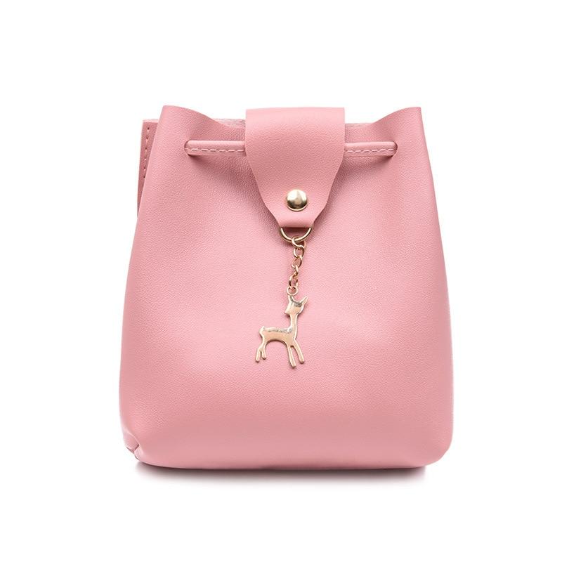 2019 Women Handbags Ladies Leather PU Shoulder Bag Messenger Tote Brand Mini Bucket