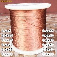 ChengHaoRan 1 เมตร 0.2x5 0.2x10 0.2x15 0.2x20 0.2x25 0.2x30 0.2x35 0.2x40 0.2x45 0.2x50 0.2x60 0.2x80   strand สายไฟทองแดง