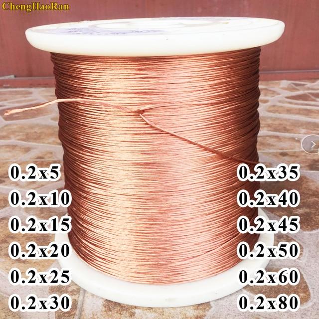 ChengHaoRan 1 m 0.2x5 0.2x10 0.2x15 0.2x20 0.2x25 0.2x30 0.2x35 0.2x40 0.2x45 0.2x50 0.2x60 0.2x80 multi  fio cabo de fio de cobre