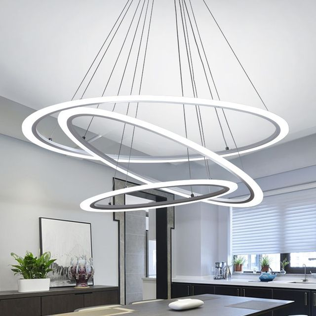 Modern dinning room led round pendant lighting led oval hanging modern dinning room led round pendant lighting led oval hanging lamp luxury acrylic kitchen pendant lamp mozeypictures