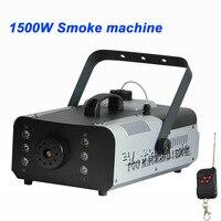 Hot sale colorful package mini 1500W Wire control fog machine pump dj disco smoke machine wedding party stage Lampblack machine