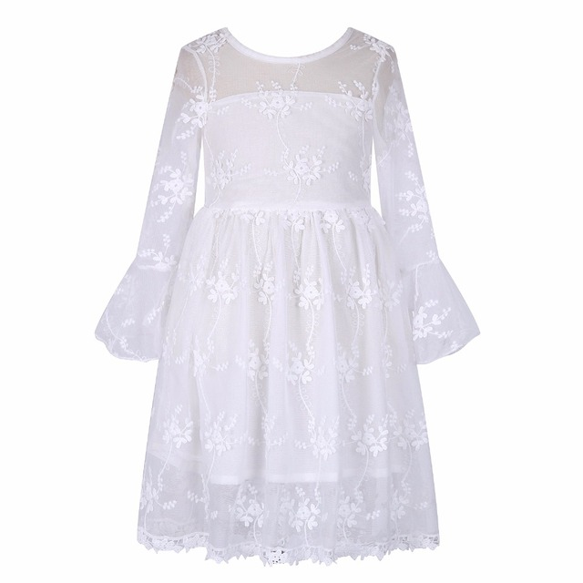 Girls Party and Wedding Dress Kids Costumes 2017 Brand Summer Princess Lace Dress for Girls Clothes Flower Children Robe Fille