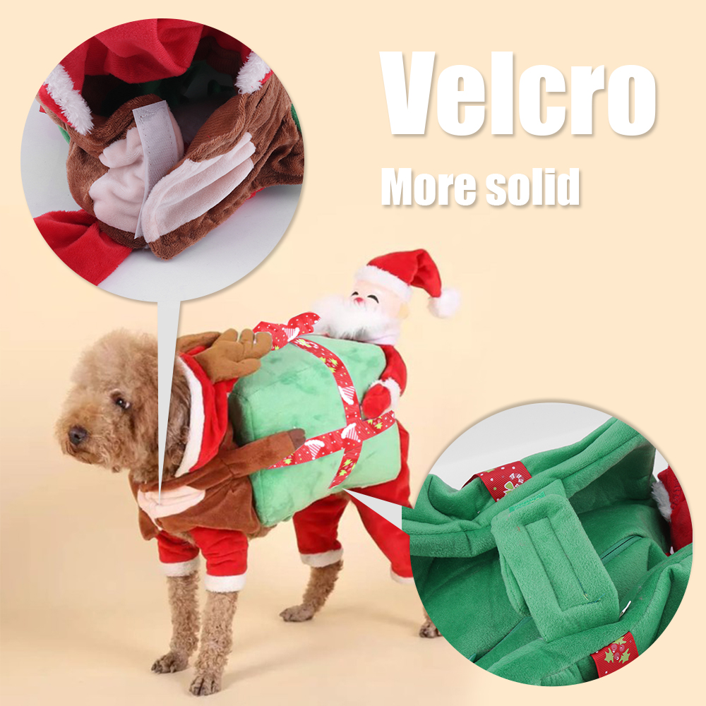 Cute Funny Dog Clothes Santa Claus Costume Christmas Gifts Warm ...