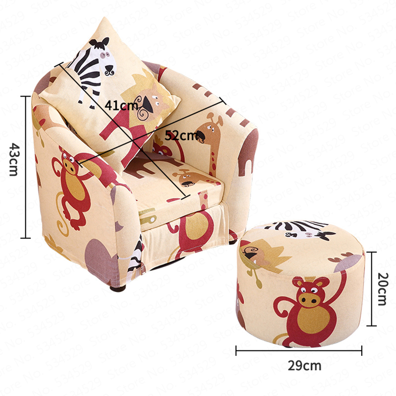 Children's Sofa Cartoon Girl Princess Single Kindergarten Seat Cartoon Washable Cloth Cute Baby Small Sofa Children's Gift