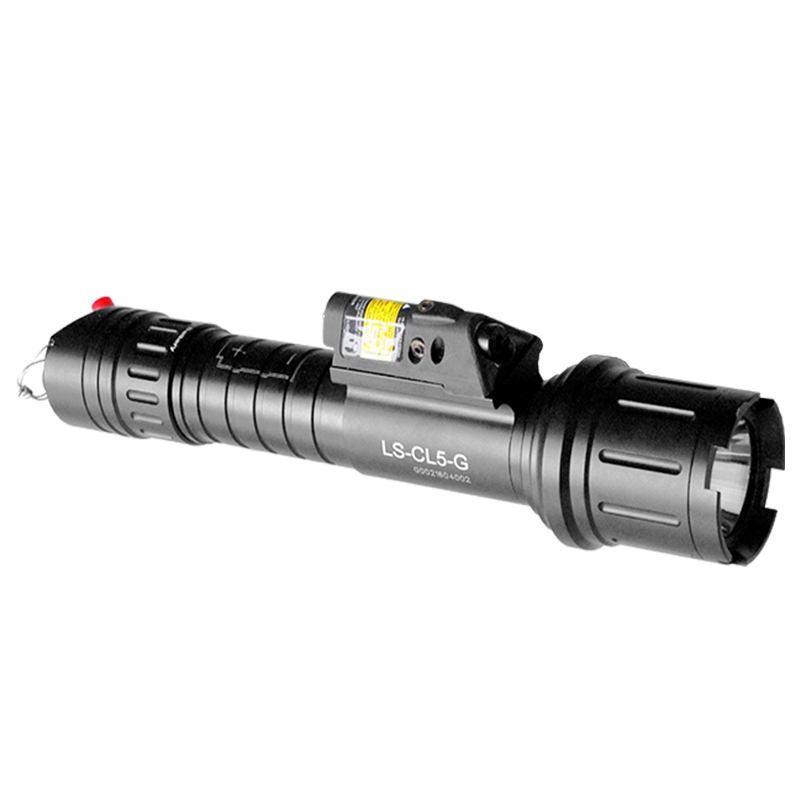 Acecare Drop Shipping LS-CL5-R Rifle Tactical Flashlight Equipment With Red Laser Sight Combo