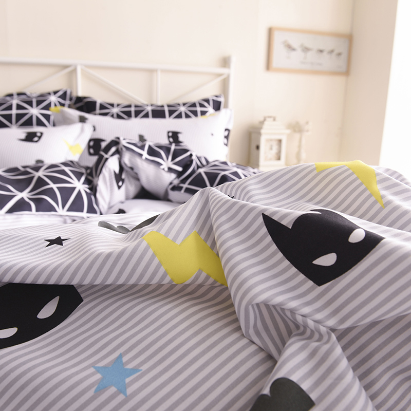 Us 14 21 60 Off Wongsbedding Batman Bedding Set Black Color Cartoon Duvet Cover Sheet Bed Cover Single Full Queen King Size Beddings For Kids In
