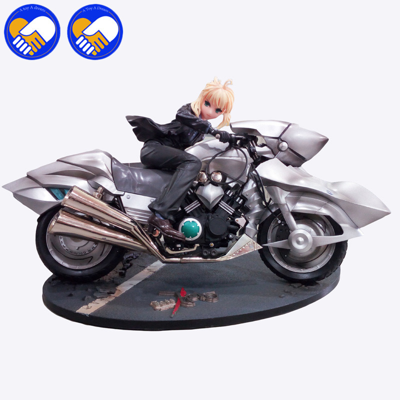 A TOY A DREAM Anime Fate/Stay Night Figma 126# Saber Black Suit Motorcycle Ver. PVC Action Figure Model Toy 20CM AF144-D tt tf ths 02b hybrid style black ver convoy asia exclusive