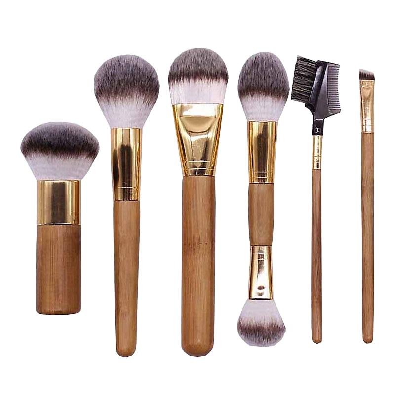 Multifunctional Imported Fiber Oval Make Up Brush Contour Concealer Foundation Cosmetic Brushes Eyelash Brush Makeup Set Tools