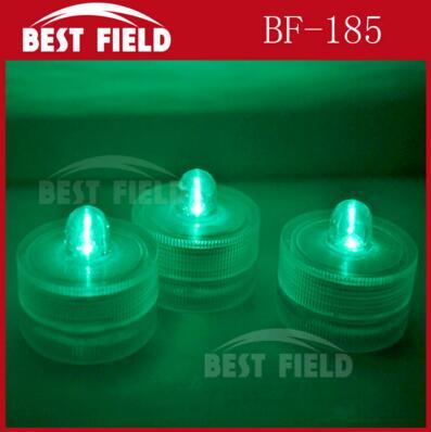 48 шт./лот беспламенного свеча свет погружной водостойкий светодиодная свеча-таблетка огни батарея работает Свадебная ваза - Цвет: green