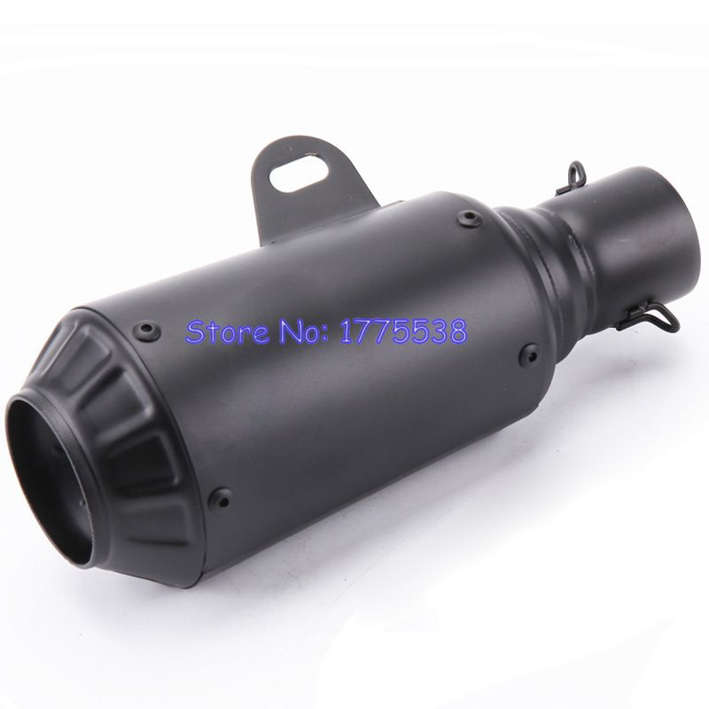 Length 265mm Inlet 51mm Modified Motorcycle Exhaust Muffler Silencer 2 inch Motorbike Muffler Exhaust Pipe Escape Spare Parts