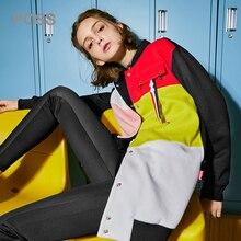 Пройти осень 2017 г. зимняя куртка Для женщин кнопка карман Стиль длинные Длина повседневные пальто с длинным рукавом Мода O Средства ухода за кожей Шеи Femme куртка