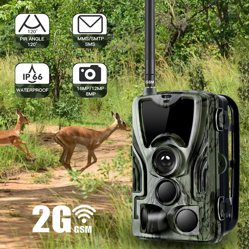 Goujxcy HC 801M 2G MMS Hunting Camera forest Trail Camera Photo Traps wireless Surveillance scouting Thermal