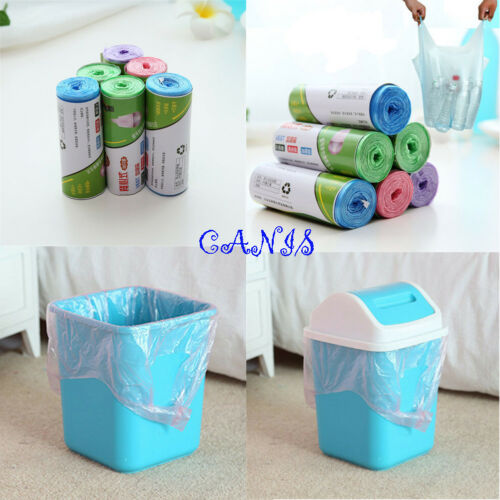 Green Garbage Portable Waste Bag Trash Clean Up Rubbish Bags Kitchen Toilet Bag