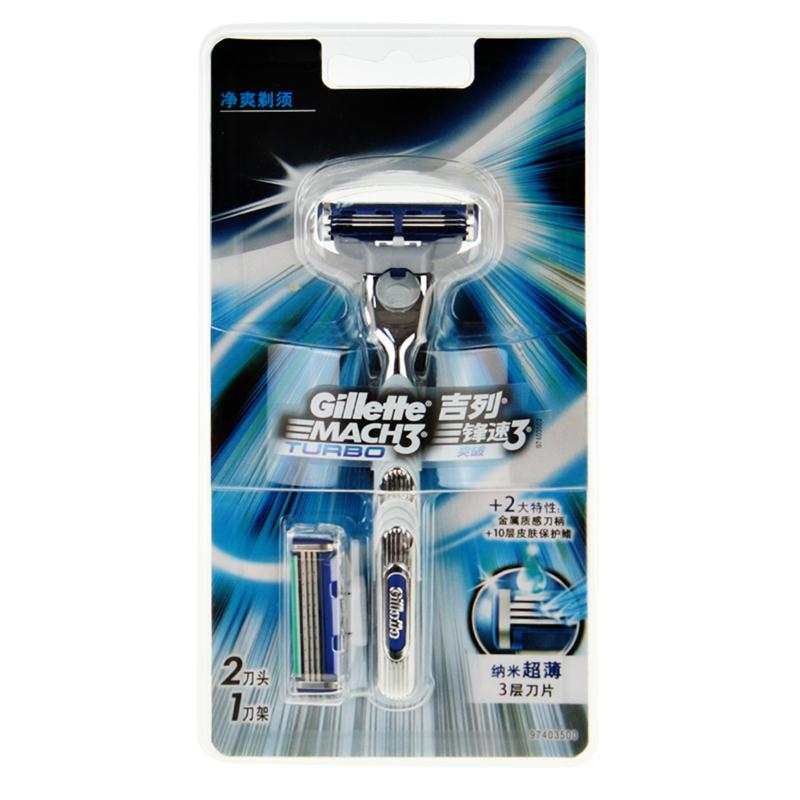 Original Gillette Mach 3 Turbo Shaving Razor Blades Brand