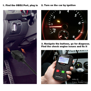Image 4 - KONNWEI KW590 ODB2 Automotive Scanner OBD2 OBD Diagnostic Scanner in Russian Car Code Reader Auto Scanner Better AD310 ELM327
