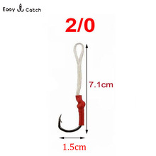 5pcs/bag fishing hooks stainless steel sport Fly Tying Jig Bait Fishhooks Fishing Accessories 10827 size 2/0