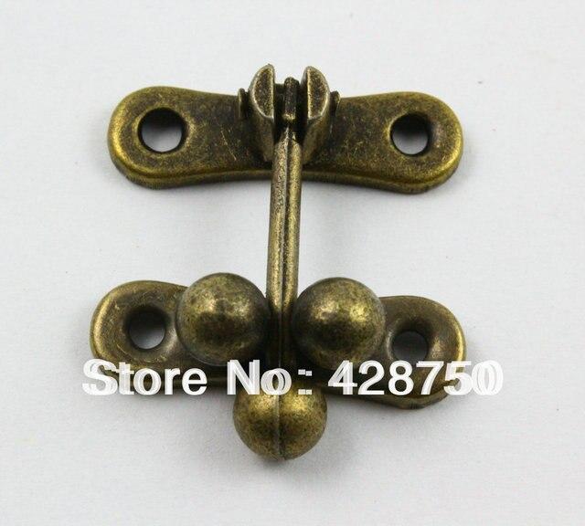 Antique Brass Jewelry Box Hasp Latch Lock 31x33mm with Screws