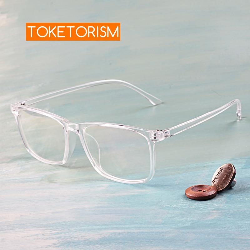 Toketorism transparent glasses prescription optical eyeglasses frame spectacle for men and women 2142