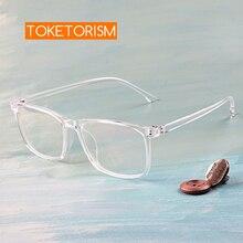 Toketorism transparent glasses prescription optical eyeglass