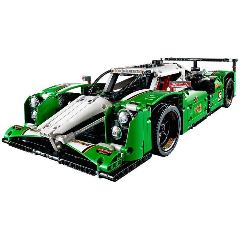 Bloki Technic 24 godzin samochód wyścigowy 1249 sztuk modelu klocki zabawki dla dzieci montażu technika samochód sportowy blok w Klocki od Zabawki i hobby na  Grupa 1