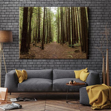 цена на Unframed prints landscape poster print early morning forest canvas painting Wall art pictures for living room