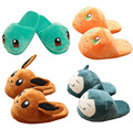 Monster Adult Plush Slippers Eevee Snorlax Charmander Squirtle Winter Slippers Plush Toys Soft Stuffed Animal Dolls