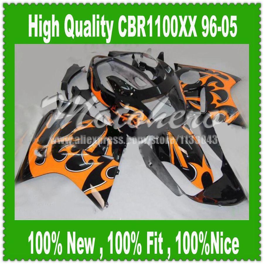 Fairing kit Orange Flame for Honda CBR1100XX 96-05 CBR1100 XX 96 05 1996 2005 CBR 1100XX 96 05 CBR 1100 XX 96 05