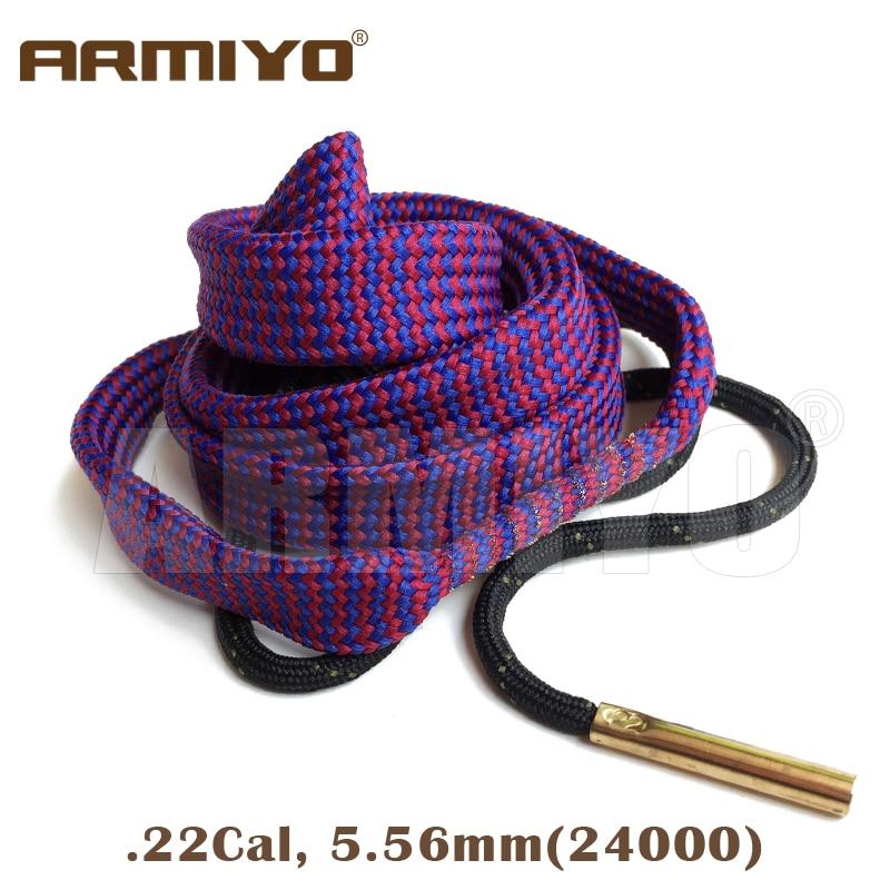 Armiyo Bore Snake .22Cal Gun Barrel Cleaning Sling Pistol Bore Cleaner 24000 Hunting Shooting Clean Accessories