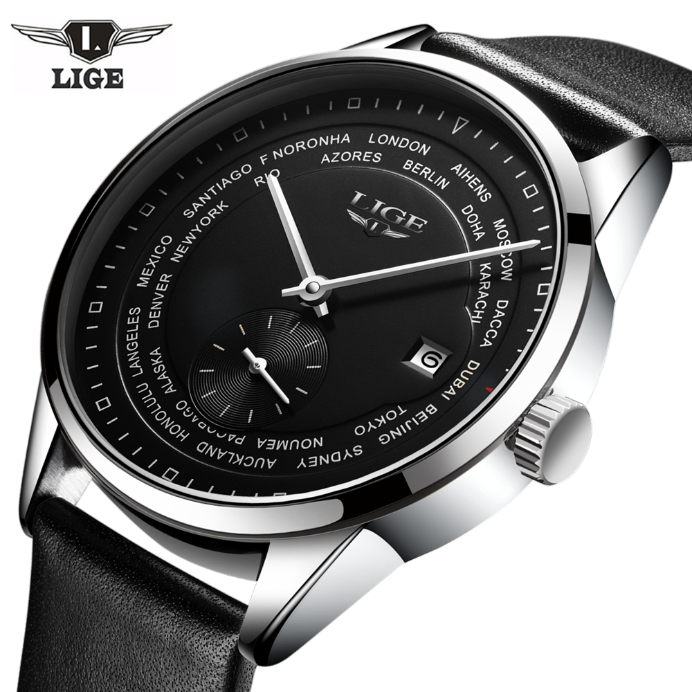 цены Mens Watches Top Brand Luxury LIGE 2017 Men Watch Casual Tourbillon Automatic Mechanical Leather Wristwatch relogio masculino