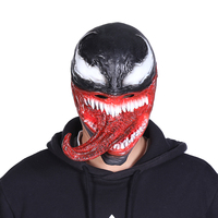 Spiderman Venom Face With Peripheral Film And Television Long Tongue Role Playing Venom Mask Helmet Halloween Party Props