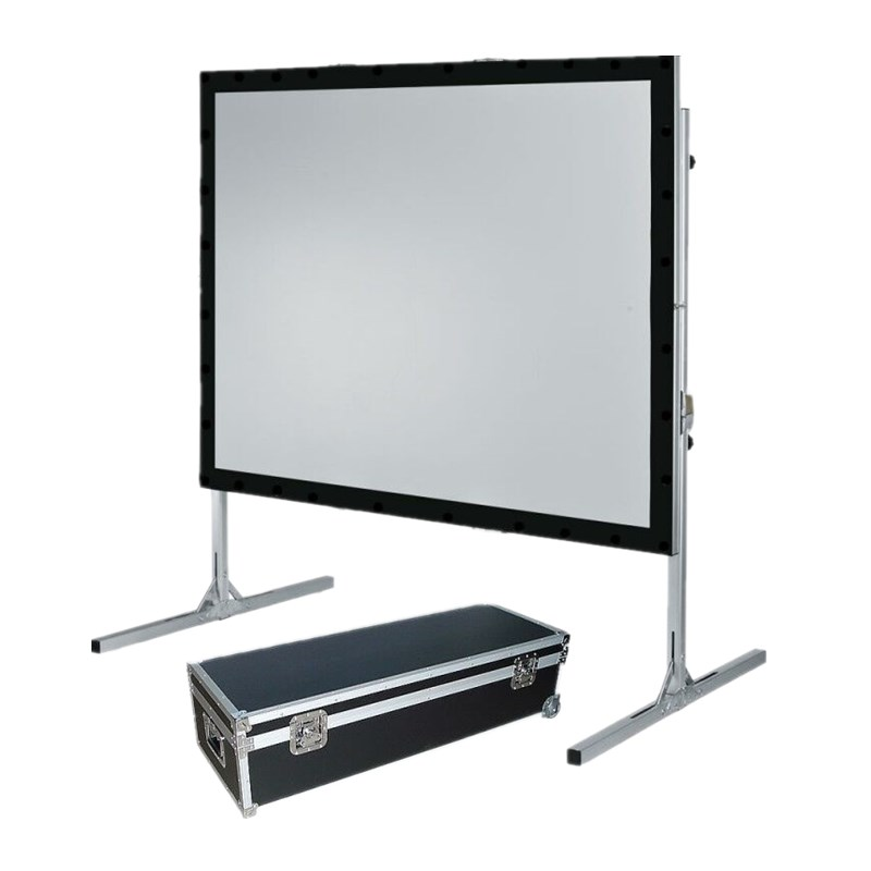 outdoor rear projection screen The diy outdoor rear projection movie screen is made of a theater-grade pvc material that is easily fastened into place by use of its corner grommets they evenly spread out the material tension for a flat projection surface and readily attach to their surrounding environment such as garage door frames, walls, trees and pole supports.